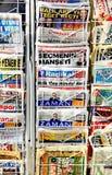 Periódicos turcos Imágenes de archivo libres de regalías