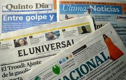 Periódicos venezolanos Imagenes de archivo