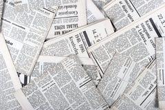 Periódicos viejos Fotos de archivo