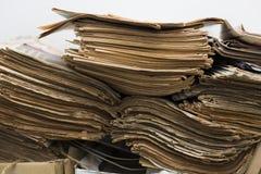 Periódicos viejos Fotografía de archivo