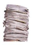 Periódicos viejos apilados Imágenes de archivo libres de regalías