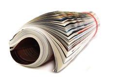 Periódicos y compartimientos Fotos de archivo libres de regalías
