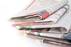 Periódicos y compartimientos viejos Imágenes de archivo libres de regalías