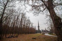 Peri drewniany kościół w Sapanta, Rumunia Zdjęcia Royalty Free
