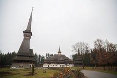 Peri drewniany kościół w Sapanta, Rumunia Obraz Royalty Free