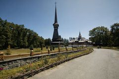 Peri-Sapanta Самая высокорослая деревянная церковь в восточной Европе Стоковая Фотография