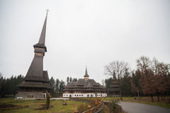 Peri wooden church in Sapanta, Romania. Royalty Free Stock Image