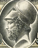 Pericles. (495– 429 BC) on 50 Drachmai 1955 Banknote from Greece. Most prominent and influential Greek statesman, orator and general of Athens during the Stock Image