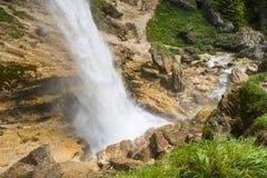 Pericnik瀑布,斯洛文尼亚 免版税图库摄影