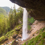 Pericnik siklawa w Triglav parku narodowym, Juliańscy Alps, Slovenia Obraz Royalty Free
