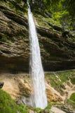 Pericnik vattenfall, Slovenien Arkivbild