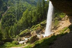 Pericnik vattenfall, Slovenien Fotografering för Bildbyråer