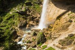 Pericnik vattenfall, Slovenien Royaltyfri Fotografi
