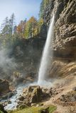 Pericnik Wasserfall Lizenzfreie Stockfotos