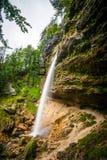 Pericnik waterfall in Slovenia Stock Photos