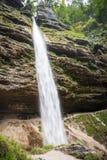 Pericnik waterfall in Slovenia Stock Image