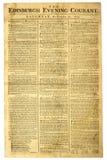 Periódico escocés viejo. Imagen de archivo libre de regalías