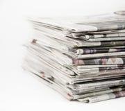 Periódicos 1 Imagen de archivo libre de regalías