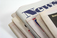 Periódicos Foto de archivo libre de regalías