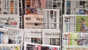 Periódicos diversos Fotografía de archivo libre de regalías
