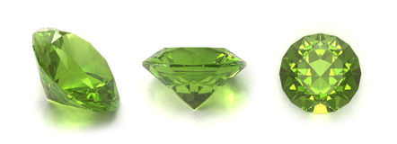Peridot or chysolite gems Stock Images