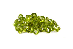 Peridot facets Royalty Free Stock Photo