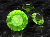 Peridot. (high resolution 3D image Royalty Free Stock Images