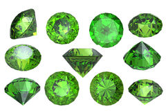 Peridot isolated. Gemstone Royalty Free Stock Image