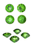 Peridot isolated on white background. Gemstone Royalty Free Stock Photography