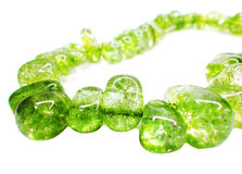 Peridote gemstone beads necklace jewelery Royalty Free Stock Photo