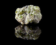 Peridote or olivine crystals Stock Photo