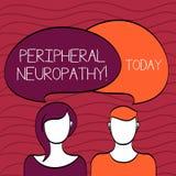Perifer Neuropathy f?r handskrifttext Den begreppsbetydelsevillkoret eller sjukdomen som p?verkar de perifer nerverna, f?rbig?r f stock illustrationer