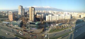 Periferia della città di Sofia di panorama Fotografia Stock