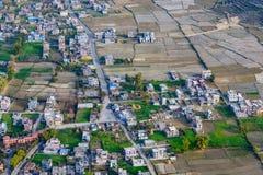 Periferia della vista aerea di Pokhara Fotografie Stock