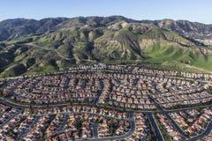 Periferia di Los Angeles Hillside a Porter Ranch Immagini Stock Libere da Diritti