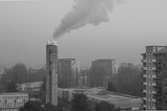 Periferia inquinante Fotografie Stock
