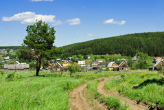 Periferie russe del villaggio Immagini Stock Libere da Diritti