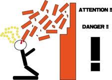 Perigo ilustração do vetor