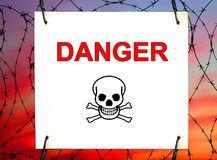 Perigo! Fotos de Stock Royalty Free
