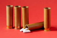 Perigo - comprimidos Fotografia de Stock Royalty Free