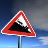 Perigo: Cruzamento de Santa Ilustração Royalty Free