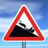 Perigo: Cruzamento de Santa Imagens de Stock