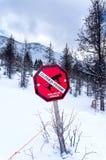 Perigo da avalancha Imagens de Stock Royalty Free