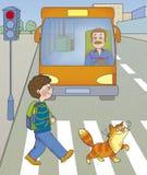 Perigo da estrada Imagem de Stock