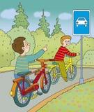 perigo da estrada Foto de Stock