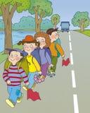 Perigo da estrada Imagens de Stock