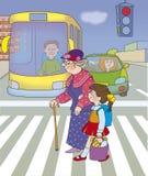 perigo da estrada ilustração royalty free