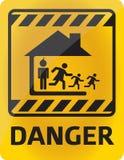 Perigo da família Imagem de Stock
