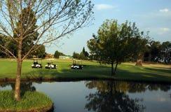 Perigo da água do campo de golfe Imagem de Stock Royalty Free