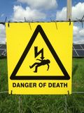 Perigo da morte imagens de stock royalty free